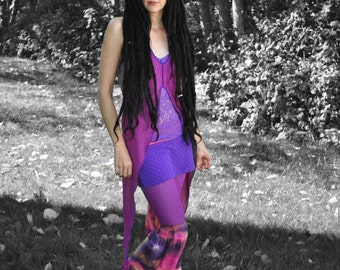 GaLaxy PaNts, Festival Clothing, skirted flared leg pants, Intergalactic AppaReL, gypsy Clothes, Hippie Clothes
