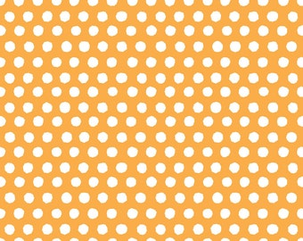 Monaluna Juicy Spot On Orange Organic Cotton Fabric