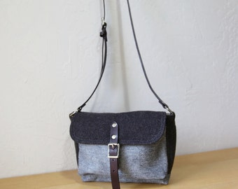 Spring SALE! Wool Satchel // Limited Edition Small Satchel