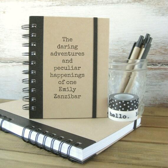 Journal, Notebook, Personalized Gift, DA4