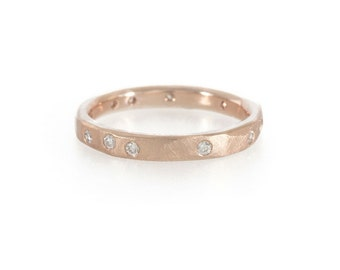 Hewn Diamond Wedding Band