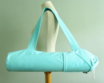 Yoga Mat Bags. Yoga Gifts for Women. Mint Yoga Mat Tote Bag. Fitness Gifts. Yoga Mat Holder. Yoga Mat Carrier. Yoga Gifts for Her. Yoga Gear