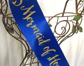 Sparkle Mermaid of Honor Sash
