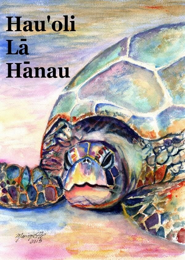 Printable DIY Happy Birthday Hawaiian Language card 5x7 pdf – Hawaiian Birthday Greetings