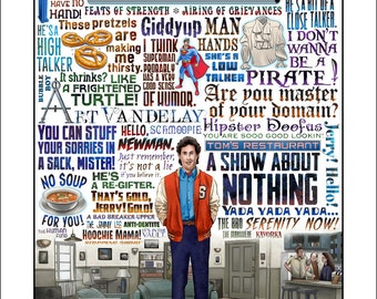 A Show About Nothing- Seinfeld tribute limited edition signed print