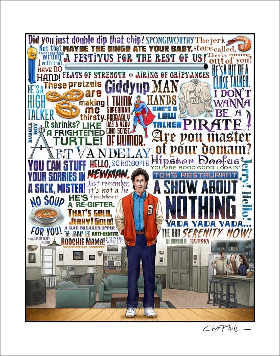 A Show About Nothing- Seinfeld tribute (Limited Edition) signed print