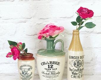 Vintage Scotch Scottish Crabbie whiskey whisky bottle
