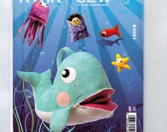 Craft Sewing Pattern Kwik Sew K4091 4091 Jonah and the Whale Toy Bible Biblical Stuffed Animal UNCUT  99