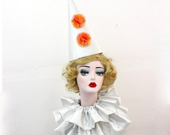 Large Clown Hat, High Fashion, Birthday Party Hat, Halloween Costume, Vintage Clown, Burning Man, Circus Costume, Princess Costume, Fairy