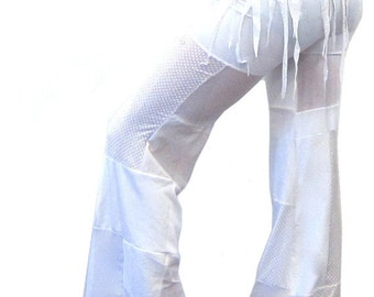 White Goddess Patch Pants