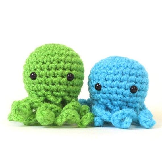 Octopus Amigurumi Plush : XS Octopus Amigurumi Plushie Stuffed Animal