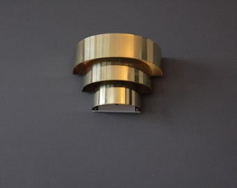 Deco Regency Brass Electrified Wall Sconces (Pair)