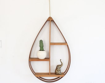 Modern Bentwood Hanging Plant Stand / Shelf