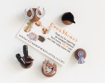 Horse Race Magnets. Jockey Helmet, Boots, Horseshoes, Polo Blue Ribbon. Kitchen, Home Office, School, Kids Room Decoration,Back to School