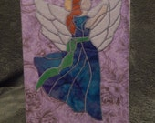 Quilted Angel Christmas Card