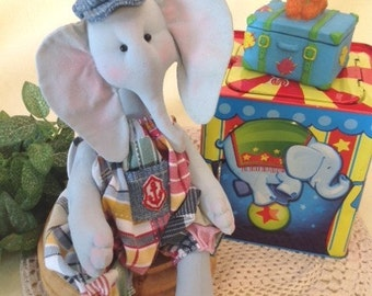 Mailed Cloth Doll Pattern Baby Boy Elephant Sewing Pattern
