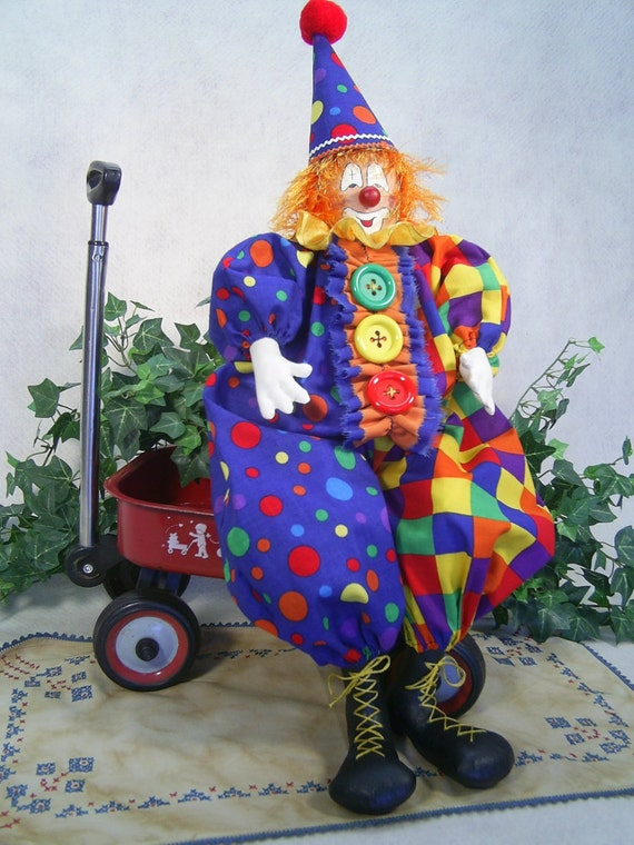 Mailed Cloth Doll Pattern - Happy the Circus Clown