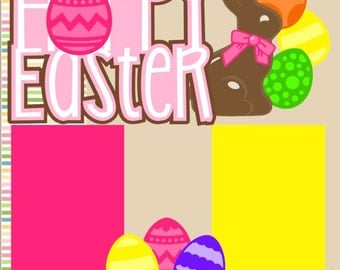 Easter-Girl 2 page 12X12 Scrapbook Page Kit or Premade Layout