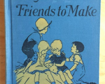 Playfellows and Friends to Make Vintage School Reader Primer 1928 MINT
