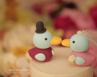 Korean Duck  Wedding Cake Topper -Handmade  korean ducks cake topper---k715
