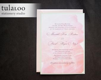 "Watercolor Roses Wedding Invitation Sample - ""Aberdeen"""