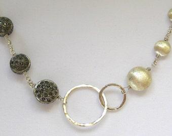 Black Diamond Infinity Necklace-Duality