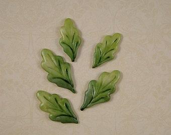Leaf Embellishment set of 5