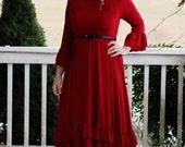 LillyAnnaKids Ladies Bree Circle Ruffle Red Valentine Dress Lala Modest