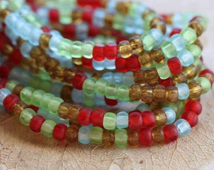 CARNIVAL No. 3 .. 50 Picasso Czech Glass Tri-Cut Seed Bead Mix Size 6/0 (4872-st)