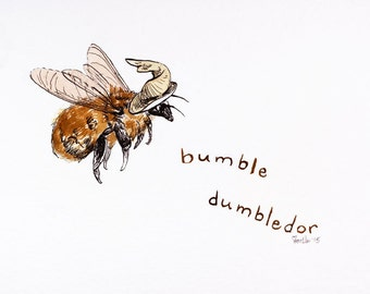 "ACEO - open edition print of ""Bumble Dumbledor"""