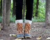 Boot Warmers Leg Warmers Boot Cuffs / THE TUNDRAS / Oatmeal