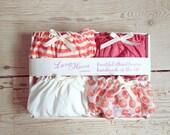 Panties Gift Box, Panties multipack Cream Santin Panty and Floral Ciffon Panty/ bridesmaid favor/ Valentines gift/ Panty box