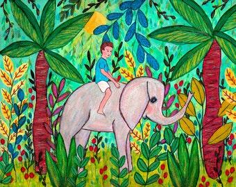 Children Decor, Children Art, Art for Boy Nursery Prints, Jungle Boy Art Print, 40x50 cm, Large Art Print, Nursery Decor, Nursery Art