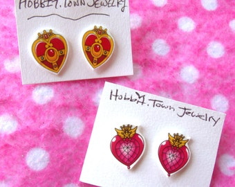 Sailor Moon Chibi Moon Locket Earrings