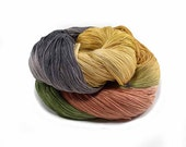 300 Yards Hand Dyed Cotton Crochet Thread Size 10 3 Ply Specialty Thread Yellow Brown Terracotta Green Fine Cotton Yarn