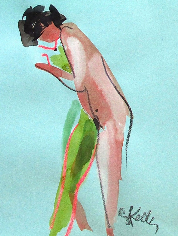 Nude painting of One minute pose 90.1  Original painting by Gretchen Kelly