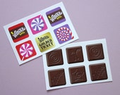 Willy Wonka stickers party favors Charlie and the Chocolate Factory stickers — 10 sticker sheets (60 stickers)