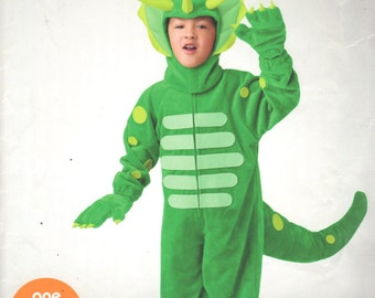 Simplicity 0893 Boys Girls DINOSAUR Costume Pattern TRICERATOPS Childs EAsY Sewing Pattern Size 3 4 5 6 7 8 Chest 22 - 27 UNCUT