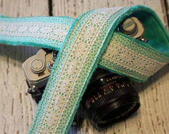 Lace Camera Strap. Camera Strap. dSLR Camera Strap. Polka Dot Camera Strap. Fashion Camera Strap. Custom Camera Strap. Camera Neck Strap.