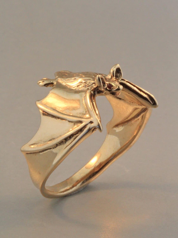 gold bat ring bat ring bat jewelry classic bat ring with ruby