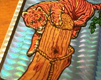 Rare Vintage Prism Tiger Sticker 1980s