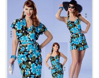 Misses'/Misses' Petite Bolero, Bustier, Sarong & Shorts- Butterick B6354- Retro Style Pattern Sizes: 6 -8 -10 -12 -14 or 14 -16 -18 -20 -22