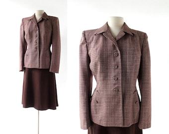 Vintage 1950s Suit / Autumn in Glasgow / 40s Suit / Women's Suit / M L