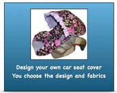 Design your own car seat cover - Custom designed car seat cover - Choose your own fabrics - OOAK - One of a kind