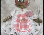 """Primitive Raggedy NEW """"APRON CUTIES"""" 2016 Gingerbread Collection!"""