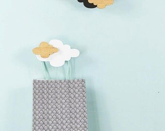Nursery cloud decor – wooden – cloud decor – monochromatic
