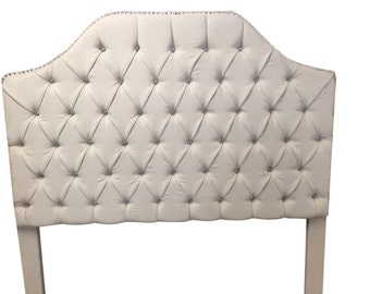 Queen Size Tufted Upholstered Headboard with Rhinestones QUEEN Size Headboard Tufted Headboard with Rhinestones