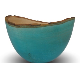 Blue Sycamore Wood Bowl