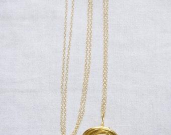Bird Nest Necklace, Nest Necklace, Gold Bird Nest, Gold Necklace, Gift For Mom, Gold Filled necklace