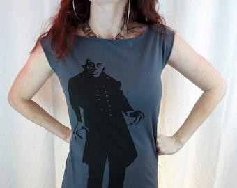 Clearance-- Gray Nosferatu Tshirt Dress